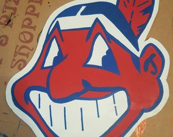 Cleveland Indians Chief Wahoo sign painting
