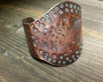 Copper Cuff~ Artisan Jewelry