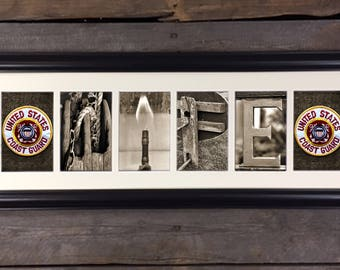 Coast Guard Wife, USCG Wife, USCG Letter Art Sign, Architectural Letter Art