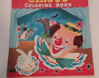 1956 Circus Coloring Book by Whitman Publishing -- unused