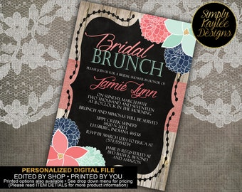 Floral Bridal Shower Brunch Invitation