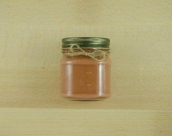 Espresso Latte - 8 oz Mason Jar - Hand Poured Soy Candle