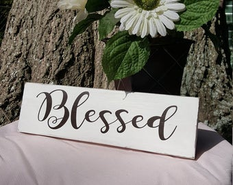 Blessed, Vinyl Decal, Wedding Decor, Vinyl Sticker, Vinyl, Wall Decor, Bedroom Decal, Wall Decal, Wall Vinyl, Wall Sticker, Window Sticker