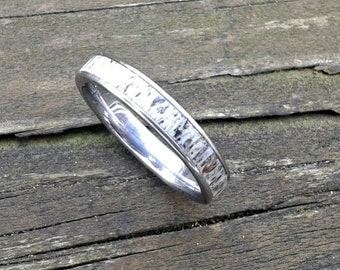 Titanium Ring with Deer Antler, Wedding Ring, Engagement Ring, Antler Ring, Bone Ring, with Engraving, love gift