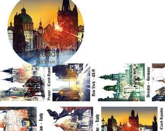 Dawn In The City // Decorative Washi Tape // City Series // Scrapbook, Journal, Planner Essentials