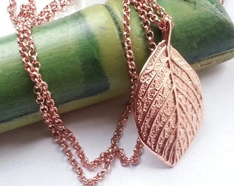 Leaf necklace leaf necklace