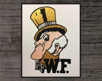 Wake Forest Demon Deacons Painting