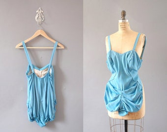 Vintage 1950s Blue Swimsuit by catalina
