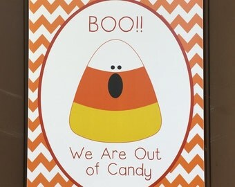 Out of Candy - Trick or Treating Sign