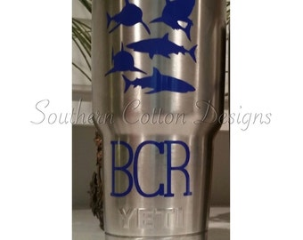 Shark decal W/Initials **DECAL ONLY**