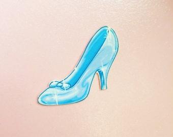 Cinderella's Glass Slipper Pin / Brooch