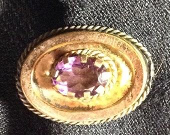 Antique Victorian tiny lavender pin