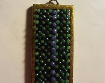 Dots, polymer clay pendant