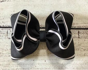 Black and White Boutique Hair Bows, Back To School Hair Bows ,Girls Boutique Hair Bows , Boutique Hair Bows , Baby Hair Bows
