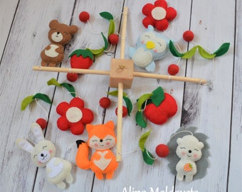 SALE! Baby Crib Mobile - Baby mobile - Neutral mobile - Nursery crib mobile - Forest animals