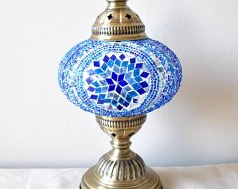 Antalya Blue - Handmade Turkish Table Lamp