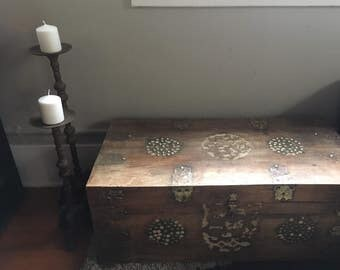 SOLD- Trunk, chest, solid wood chest.