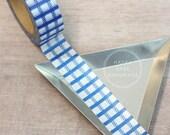 """Plaid Washi Tape, Blue Plaid Washi Tape, 9/16"""", 10 Yds, Blue Washi Tape, Decorative Tape, Plaid Tape, Blue Wedding Decor, Baby Shower Decor"""