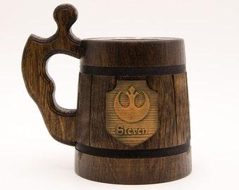 Star wars mug. Star wars gifts. Rebel logo mug. Star wars gift. Starwars gifts. Best star wars gift, Beer stein tankard,