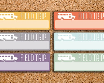 18 Field Trip, School Bus, Transportation, Vehicle, Drive Stickers for 2017 Inkwell Press IWP-H50