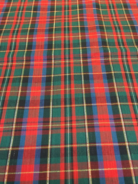 Plaid Fabric Fq Christmas Plaid Fabric Tartan Plaid