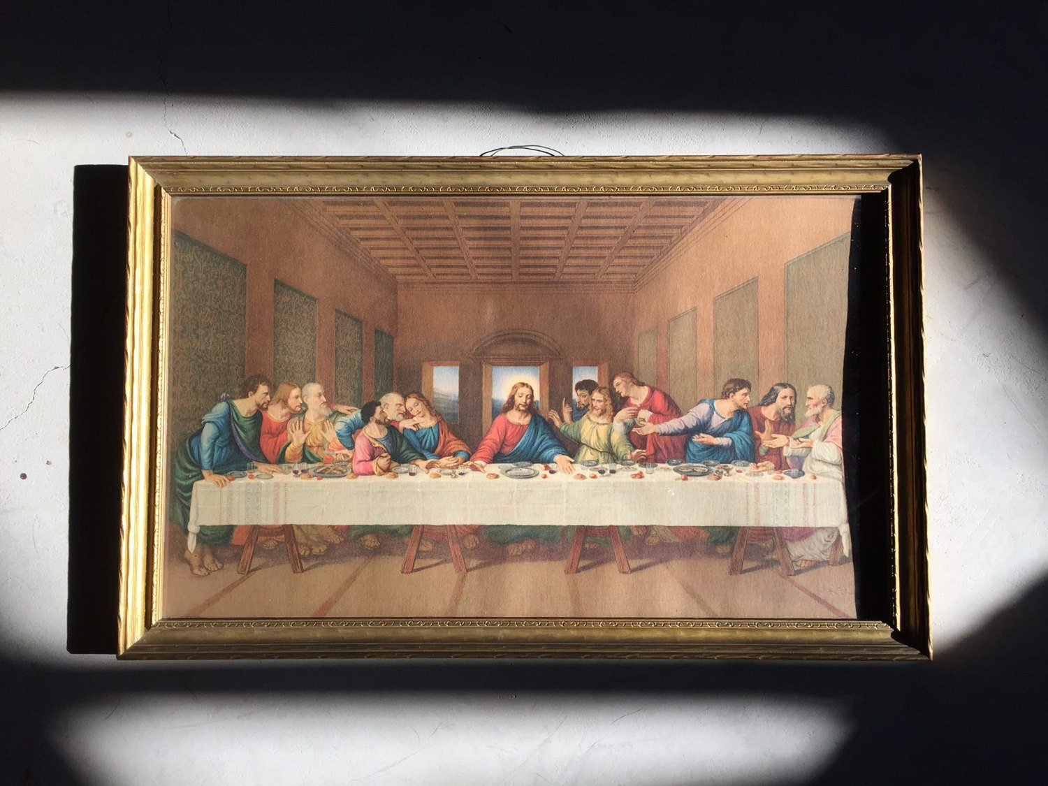 The Last Supper Antique Framed Print Religious Art Possible