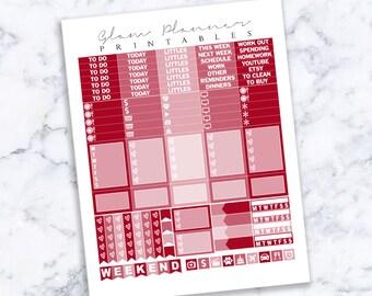 Printable Planner Stickers: 02 (Erin Condren Life Planner PDF)