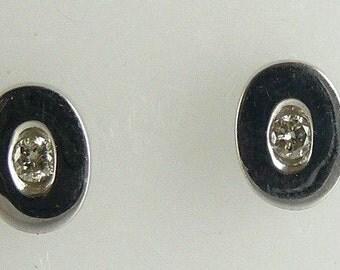 Diamond Earring 0.18ct 14k White Gold