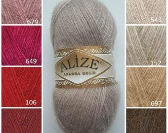 ALİZE Angora Gold, knitting supplies, soft yarn, knitting yarn, classic yarn, scarves yarn, crochet yarn, yarn for accessories, hat yarn