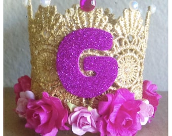 "Gold ""G"" Birthday Crown"
