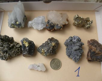 Rocks and minerals, crystals, mineral specimen set 1, Size 1-2 '' Bulgaria,