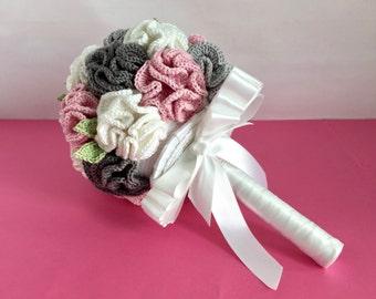 Crochet bridal bouquet - Alternative bridal bouquet - Crochet wedding bouquet - keepsake bouquet