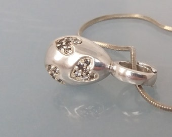 Aagaard Danish Silver Heart Pendant Jens J Modernist Jewellery Jaa Sterling 925  Charm Romantic Gift UK