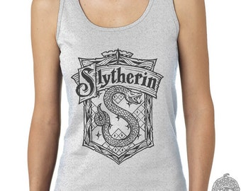 Slyth Crest #2 One color on Female tank (Gildan Softstyle junior 64200L)