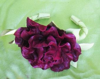 Leather Bracelet Rose, leather Red Rose Bracelet, leather bracelet flower, Bracelet flower Rose, Women Gift, red rose bracelet Rose bracelet
