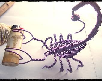 Purple Large TwistedWire Scorpion