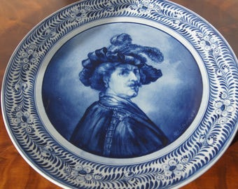 Signed Handpainted Delft Plate