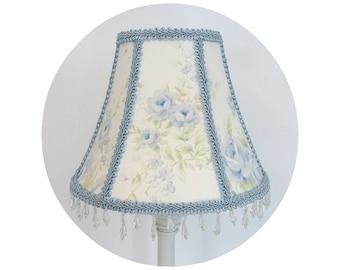 British Rose Blue Floral Shabby Chic fabric ~ Lamp Shade