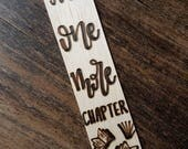 Just one more chapter bookmark, choose your size in drop down options