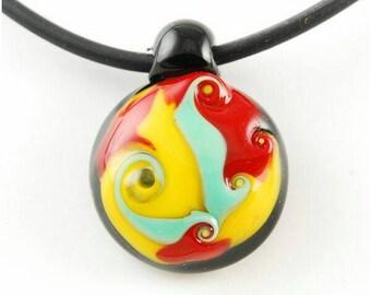 Handmade Pendant Cabochon Lampwork Glass, Cabochon Glass jewelry womens jewelry, Lampwork pendant, glass cabochon