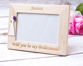 Will you be my bridesmaid gift frame Bridesmaid gift Maid of Honor Bride tribe Proposal Gift
