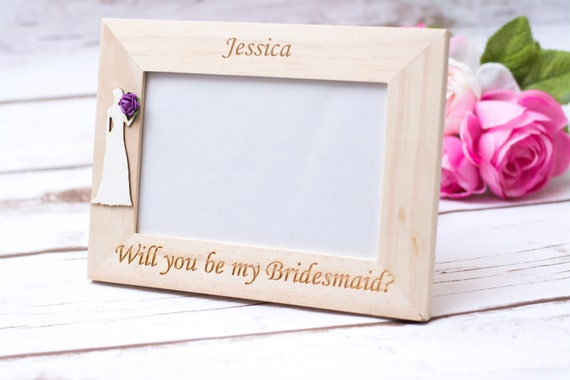 Will you be my bridesmaid gift frame Bridesmaid gift Maid of