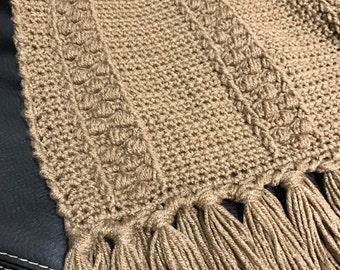 Brown Afghan, Crocheted