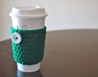 Handmade Crochet Reusable Coffee Cup Cozy