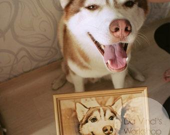 Laser engraved photo on wood, laser engraved portrait, laser engraved photograph, brithday gift, anniversary gift, portrait, laser pattern