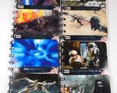 12 Upcycled Star Wars Partei begünstigt - Star Wars Notizbücher - Star Wars Geburtstagsparty - Star Wars Notizblöcke - StarWars, die das Erwachen der macht