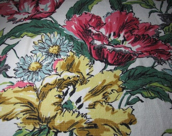 Vintage nubby Barkcloth from the fifties 48 inches wide by 60 inches long