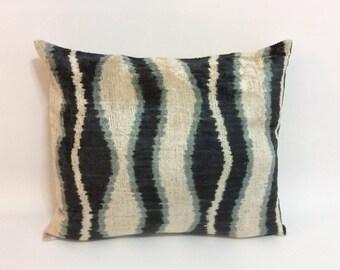 Ikat Pillow Case -  16'' x 19'' Decorative Pillows For Couch Sofa Pillows Lumbar Pillow Decorative Cushion Modern Pillow Cover