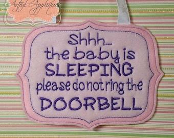 Shhh...Baby Sleeping ITH Sign Design