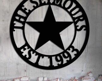 3d Ornamental Texas Star Metal Wall Art